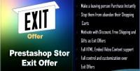 Offer exit for prestashop