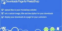 Page downloads for prestashop