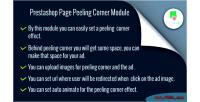 Page prestashop peeling corner