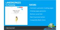 Pages landing prestashop
