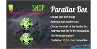 Parallax prestashop box