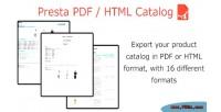 Pdf presta html catalog