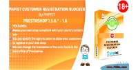 Phpist prestashop blocker registration customer