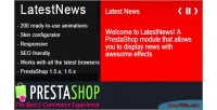Prestashop latest news module effects amazing with