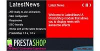 Prestashop latest news module effects amazing with