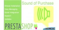 Prestashop module sound of purchase new