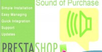 Prestashop module sound of purchase new
