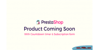 Prestashop product coming soon subscription countdown with