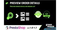 Preview prestashop order details
