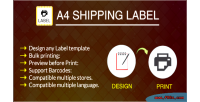 Print a4 module label shipping