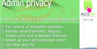 Privacy admin for prestashop