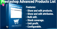 Product advanced list