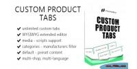 Product custom prestashop for tabs