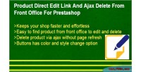 Product direct edit link delete ajax and