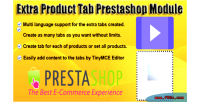 Product extra module prestashop tab