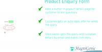 Product prestashop enquiry form