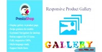 Product responsive gallery