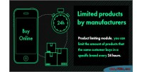 Products limited by manufacturers