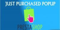Purchased just module prestashop popup