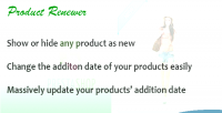 Renewer product for prestashop