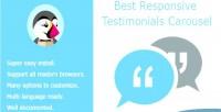 Responsive best testimonials carousel