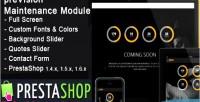 Responsive prevision module maintenance prestashop