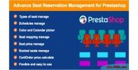 Seat advance reservation prestashop for management