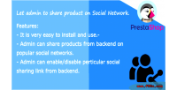 Sharing social admin prestashop