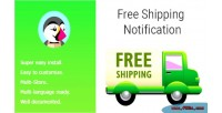 Shipping free notification