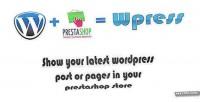 Show wpress wordpress prestashop on post