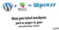 Show wpress wordpress prestashop on post