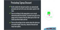 Signup prestashop discount