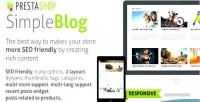 Simple prestashop blog