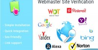 Site webmaster verification prestashop for module