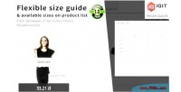 Size guide chart sizes list product on size