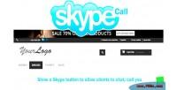 Skype prestashop call button