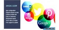 Slide social module prestashop responsive