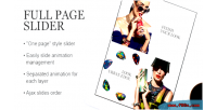 Slider fullpage prestashop module