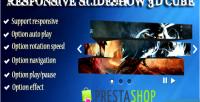 Slideshow responsive 3d cube