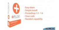 Social pluso share plugin
