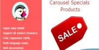 Specials carousel products