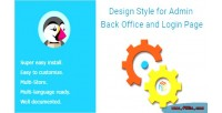 Style design for admin office back page login and