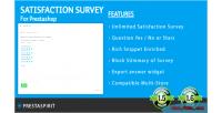 Survey satisfaction for prestashop