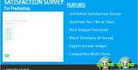 Survey satisfaction for prestashop