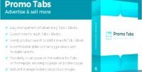 Tabs promo prestashop module