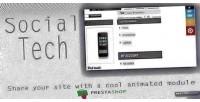 Tech social prestashop module