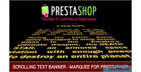 Text scrolling banner prestashop for marquee