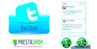 Twitter prestashop widget