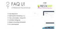 U faq prestashop for module