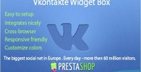 Widget vkontakte prestashop for box
